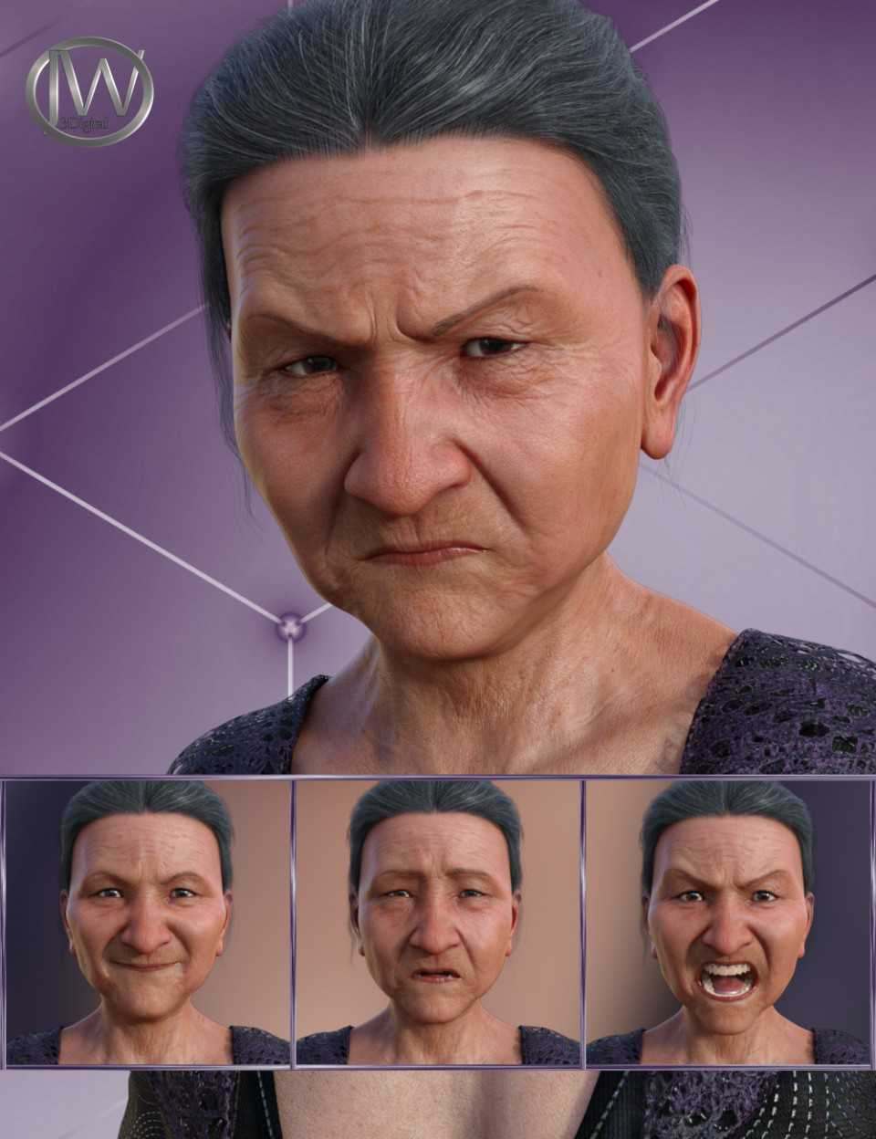 Wisdom – Expressions for Genesis 8 Female and Mrs Chow 8