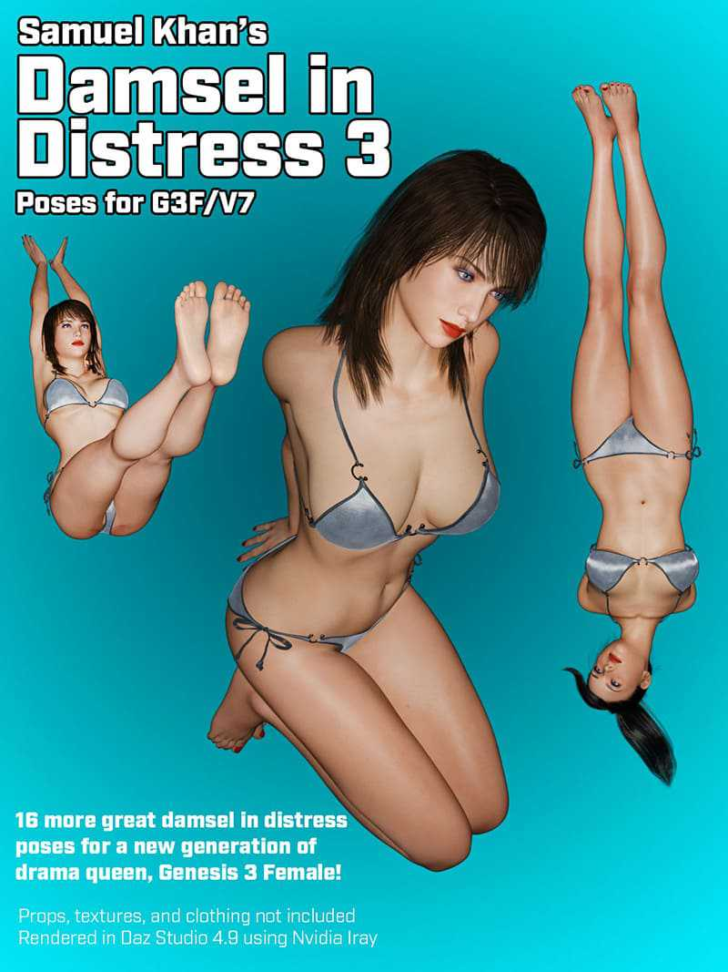 Damsel In Distress Poses For G3F/V7 Vol. 3