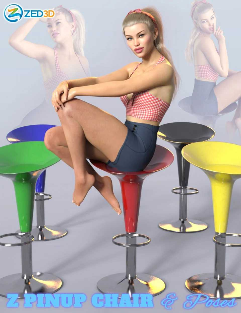Z Pinup Chair and Poses