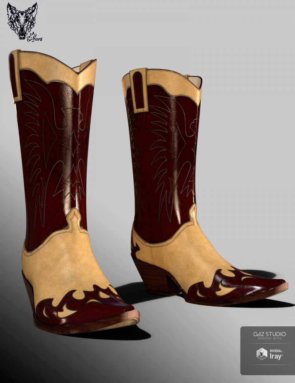 ZK Country Boots for Genesis 3 and 8 Female(s)